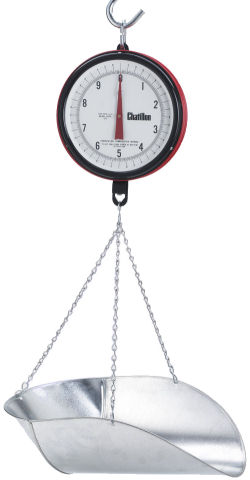 Chatillon® Century Series 7-inch Dial Hanging Scales in Lb, NTEP Legal for Trade