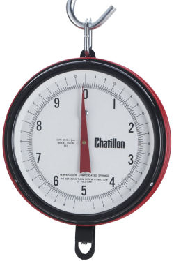 Chatillon® Century Series 7 inch Dial Hanging Scales in Kg