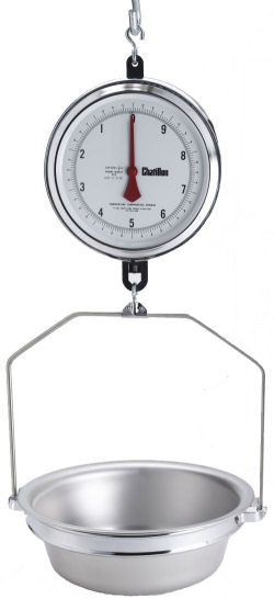 Chatillon® 4200 Series 9 inch Dial Hanging Scales in Lb, NTEP Legal for Trade