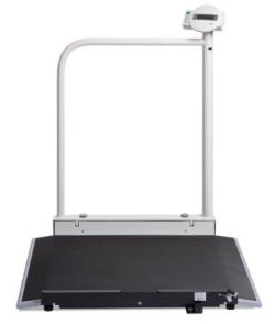 Seca®676 Series - Electronic wheelchair scale with hand rail