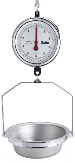 Chatillon® 4200 Series 9 inch Dial Hanging Scales in Kg