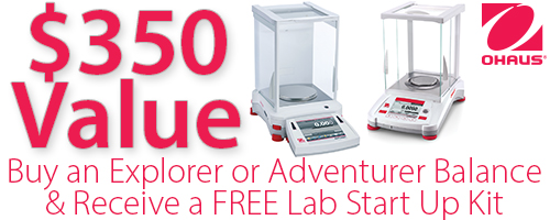 Ohaus Explorer mini centrifuge promotion