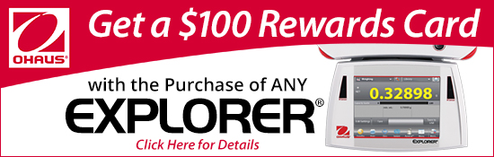 Ohaus Explorer $100 Cash Card Promo