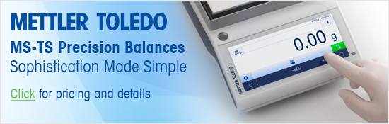 New MS-TS touch screen precision balances from Mettler-Toledo