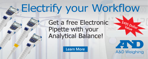 A&D free electronic pipette promotion