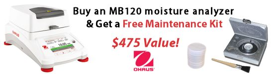 Ohaus MB120 free maintenance kit promotion