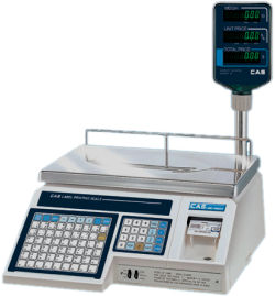 CAS® LP-1000 Series Label Printing Scales with Tower