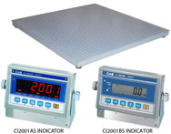 CAS HFS Series Floor Scale + CI-2001AS Washdown Indicators