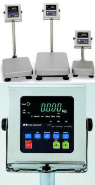A&D HV-WP Series Stainless Steel (Triple Range) Platform Scales