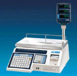 CAS LP-1000 Series Label Printing Scales with Tower